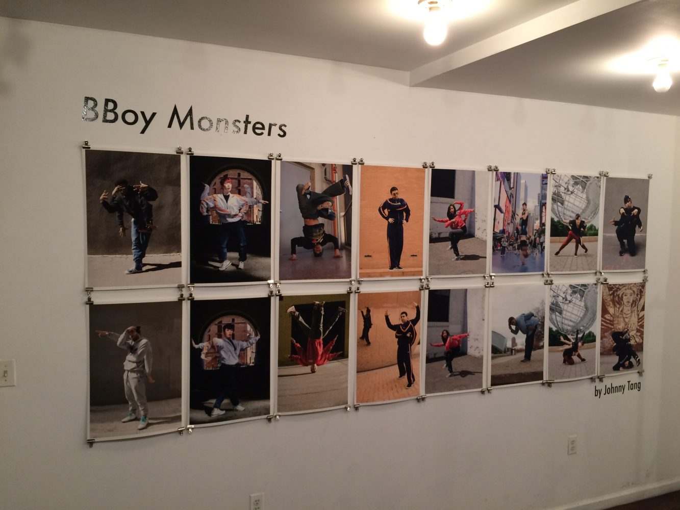Instillation shot of BBoy Monsters at Reedspace