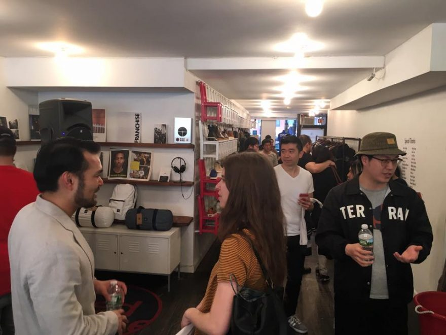 Johnny speaking at the opening for BBoy Monsters at Reedspace